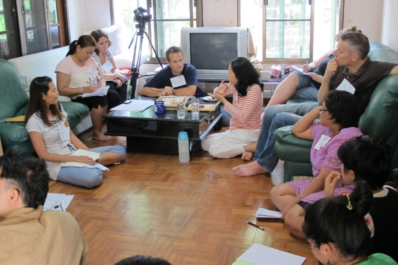 Panyaden school teachers at meeting, bilingual school in Chiang Mai