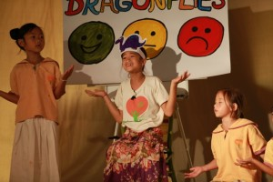 Bilingual play on stage at Panyaden School