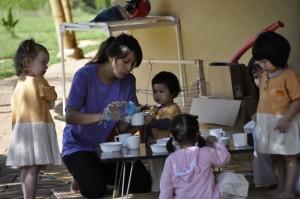 Snack time for Panyaden School's bilingual students