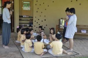 Prathom (primary) students of bilingual school in Chiang Mai, Panyaden School