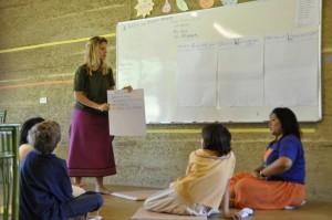 New teacher in primary class, Panyaden School