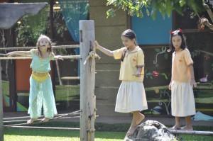 New student at Panyaden bilingual School at playground