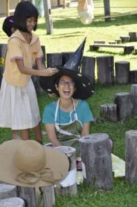 Halloween hats made by student at Panyaden School