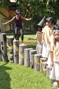 Panyaden School girls at playground