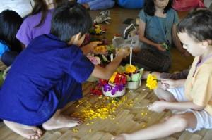 Enthusiastic primary school and nursery students of Panyaden School