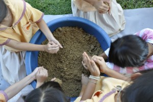 All hands on deck for EM Balls Project at Panyaden School, bilingual school in Chiang Mai