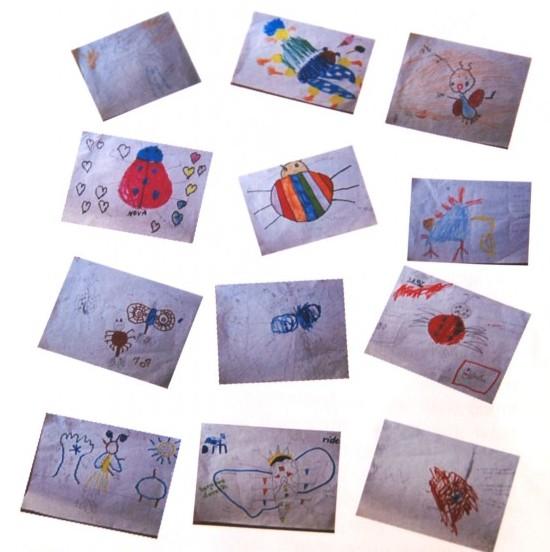 Drawings made by kindergarten students of Panyaden School, bilingual school in Chiang Mai