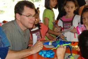 Head Teacher of bilingual school, Panyaden, at Science Fair