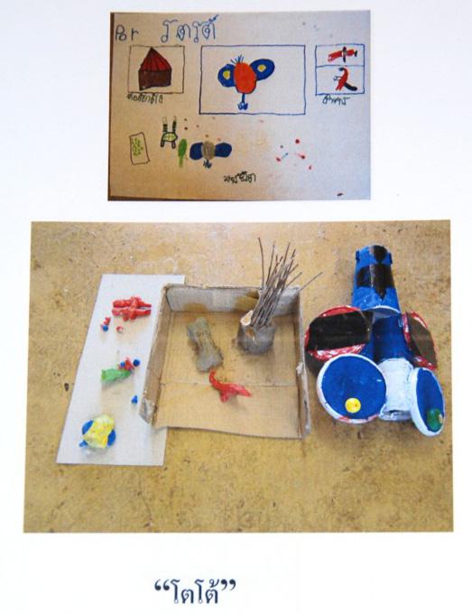 Science presentation at Panyaden School by kindergarten student