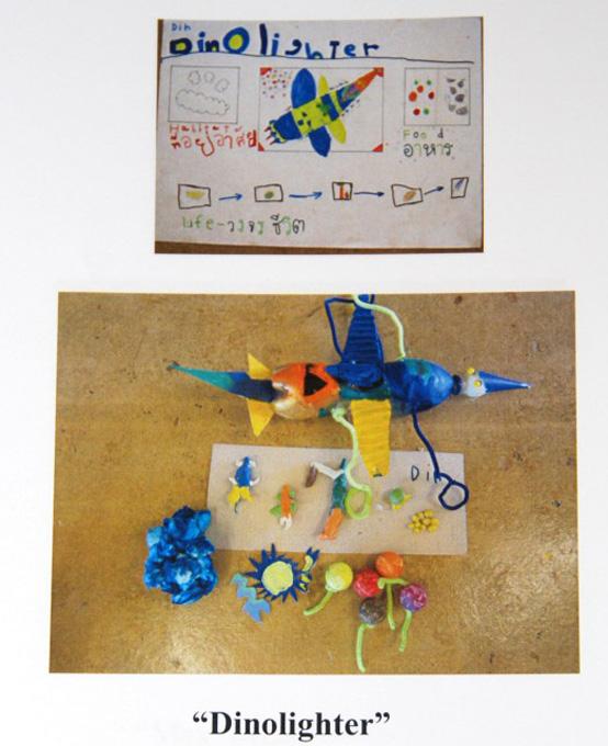 Science presentation on bugs by kindergarten student of Panyaden School, international school in Chiang Mai
