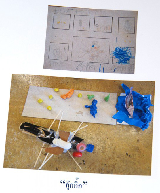 Kindergarten class science project, Panyaden School (international school in Chiang Mai)