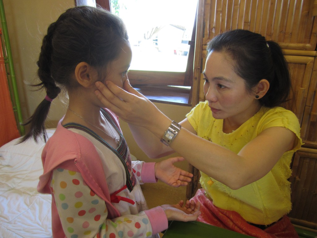 Health check at Panyaden School, bilingual school in Chiang Mai