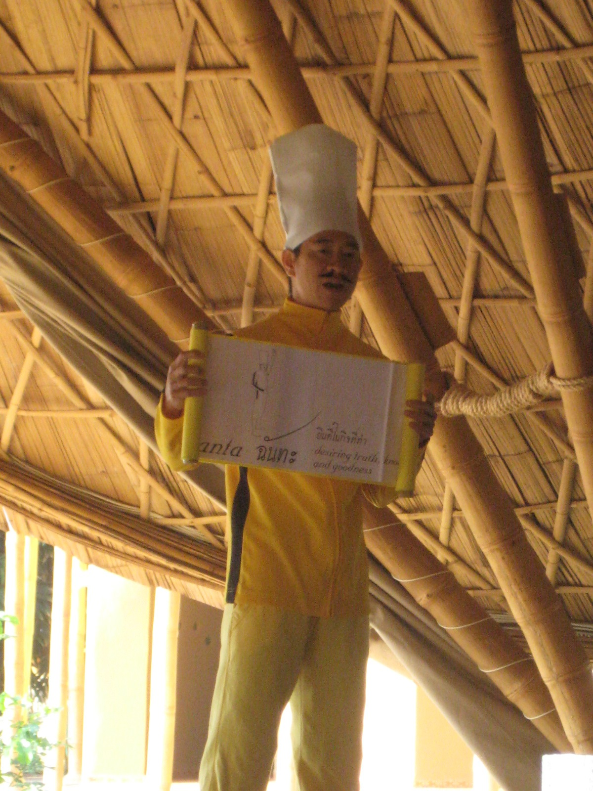 Panyaden School teacher talking about Buddhust wise habit