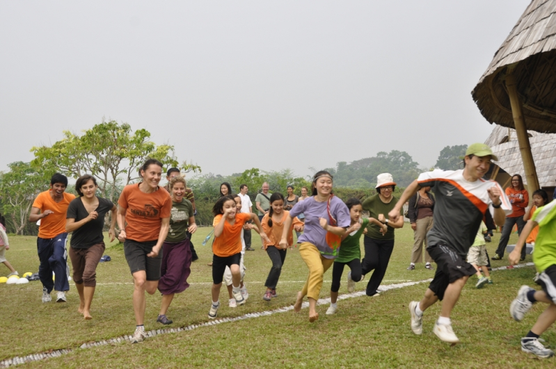 Our Thai and foreign teachers taking part in the long distance sprint on Panayden School Sports Day