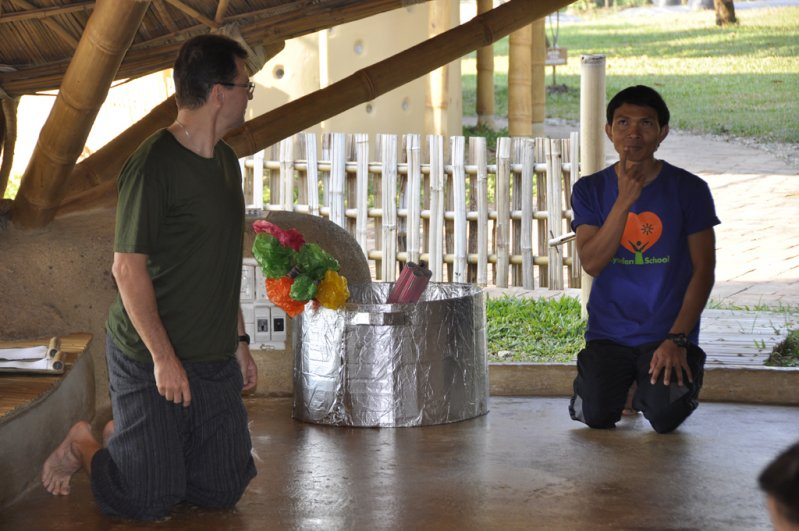 Teachers role-playing at Panyaden School, bilingual school in Chiang Mai