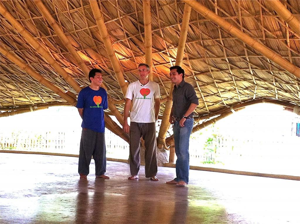 Panyaden School Director, Neil Amas with Thai TV crew