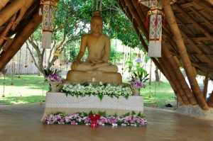 Panyaden's main Buddha image at the school, Chiang Mai
