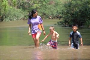 Panyaden teacher chaperoning Summer School students