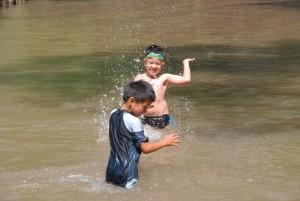 Students having fun in the water - Panyaden Summer School