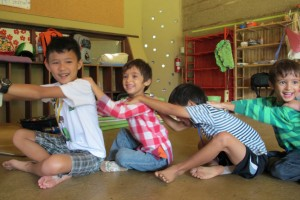 Happy students enjoying games at Panyaden Summer School