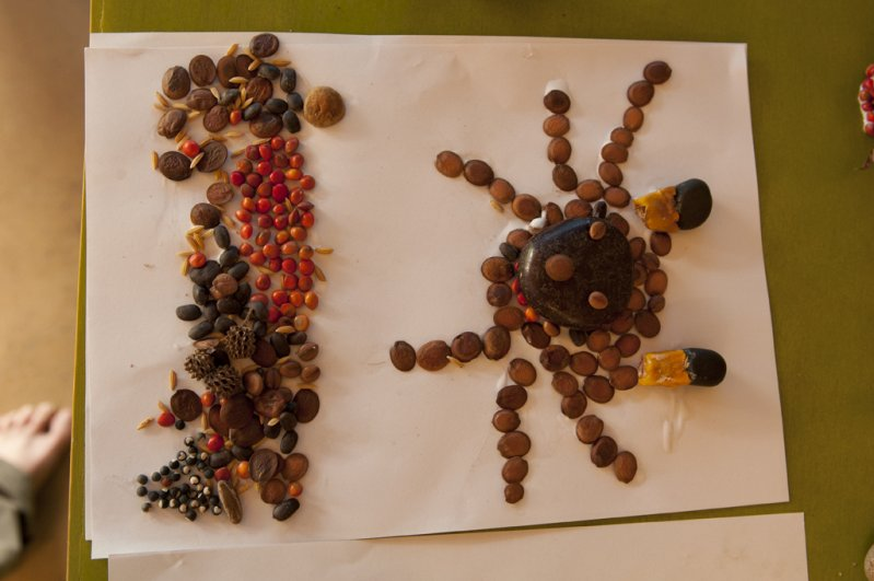 Insects made by students attending summer school at Panyaden, bilingual school in Chiang Mai