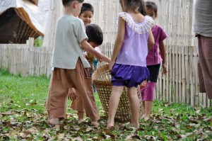 Panyaden School students chip in to help clean school grounds as part of the school's eco-friendly practice