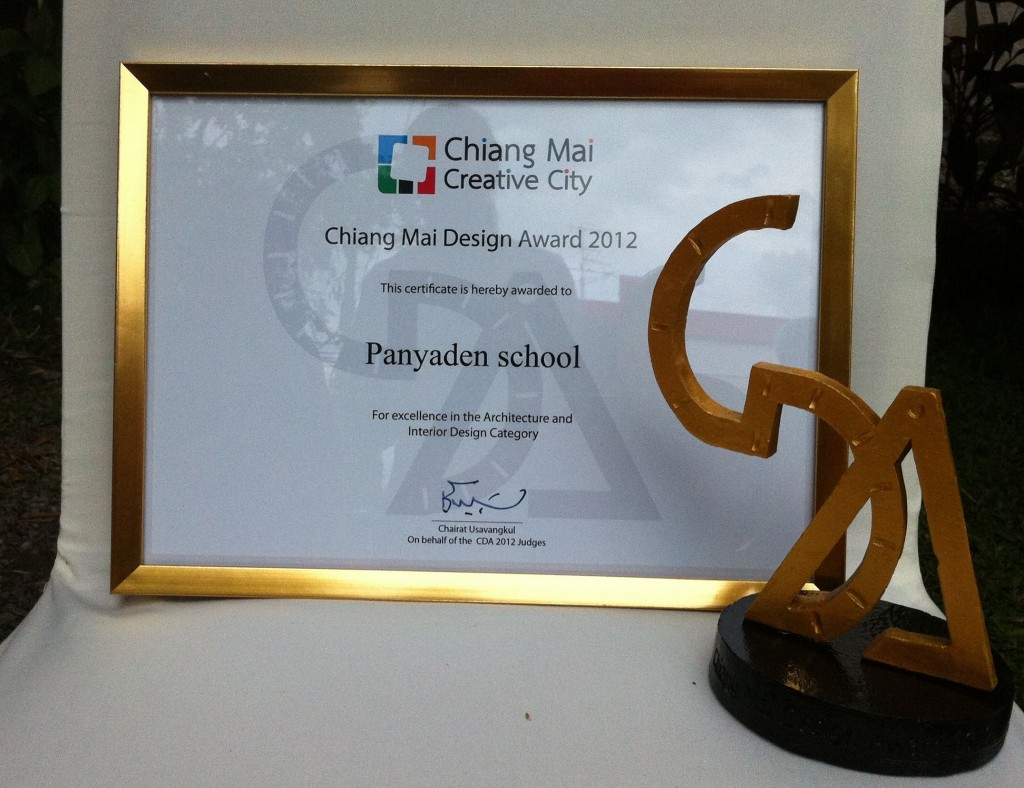 Environmentally-friendly Panyaden School's Chiang Mai Creative City Design Award 2012 (Architecture and Design excellence)