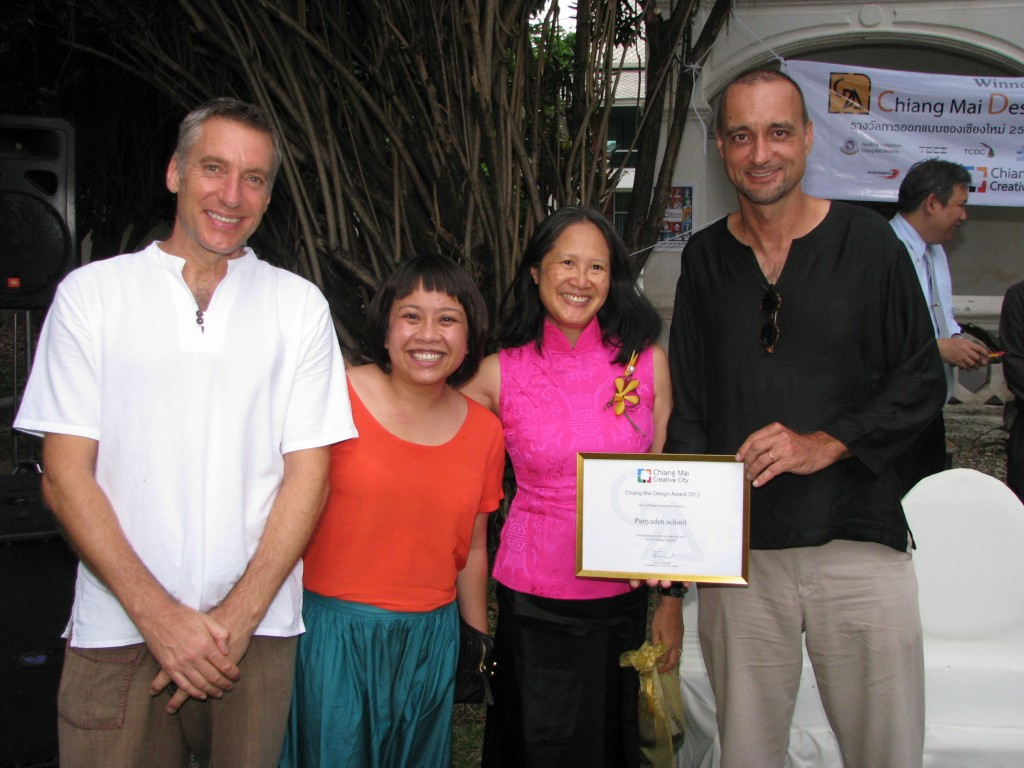 Bilingual school in Chiang Mai - Panyaden School's management team at design award ceremony