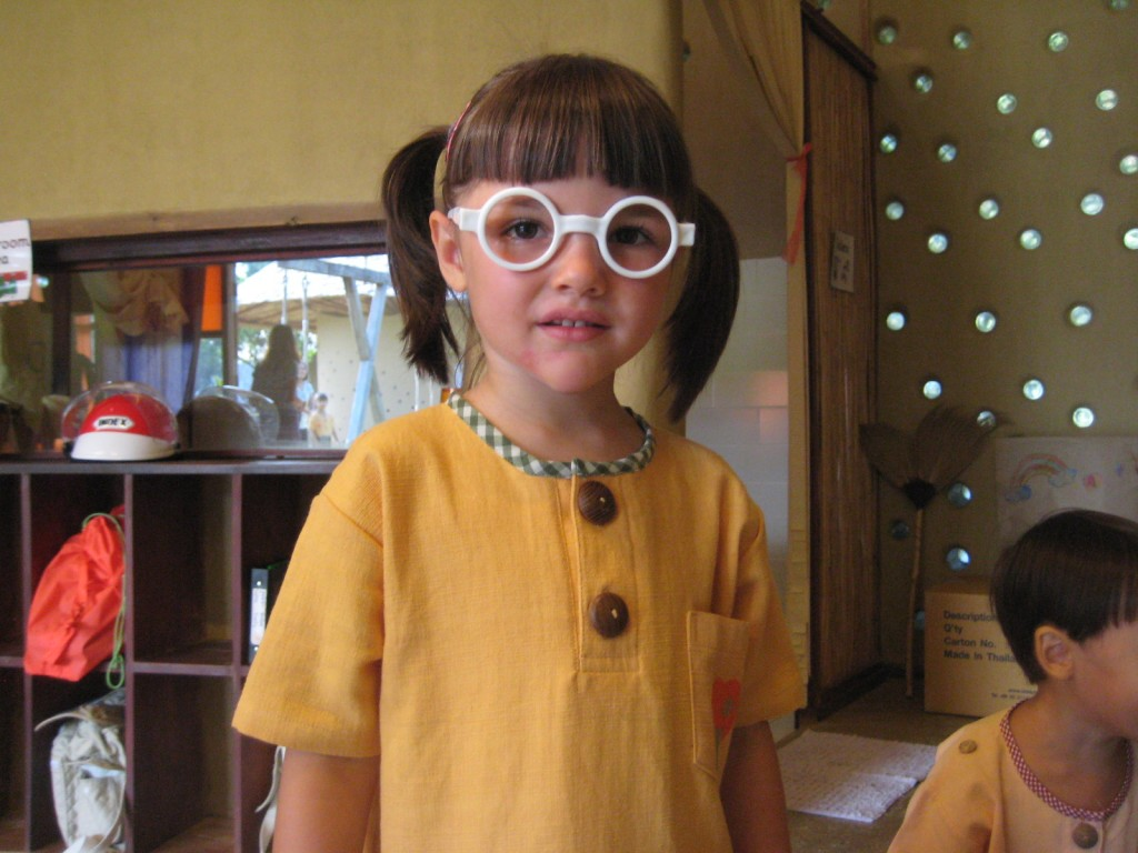 Cheerful foreign student with fun spectacles at Chiang Mai's bilingual Panyaden School