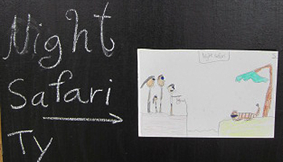 Drawing of Chiang Mai Night Safari by Panyaden School student