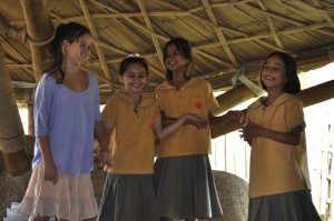Taking a bow - students of Panyaden, the bilingual school in Chiang Mai after a performance