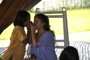 Gossipping students - Panyaden School's Thai and expat students role-playing in bilingual school