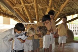 Panyaden School boys acknowledging applause of their schoolmates