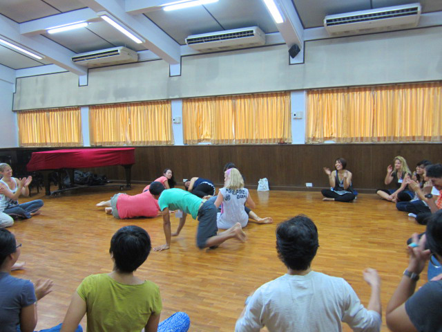 Thai and foreign teachers, Panyaden School at Orff-Schulwerk music workshop in Chiang Mai