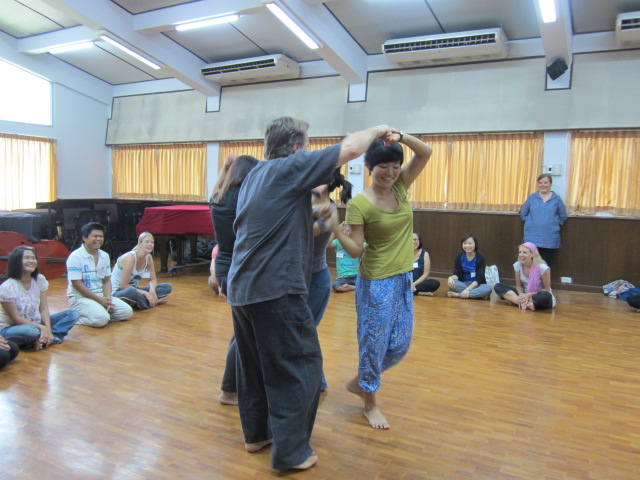 Panyaden School teachers learning through play at music workshop in Chiang Mai