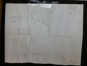 Drawing by prathom 1 student of Panyaden School, a green school in Chiang Mai