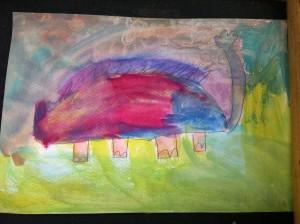 Student's painting, Panyaden School (green school in Thailand)