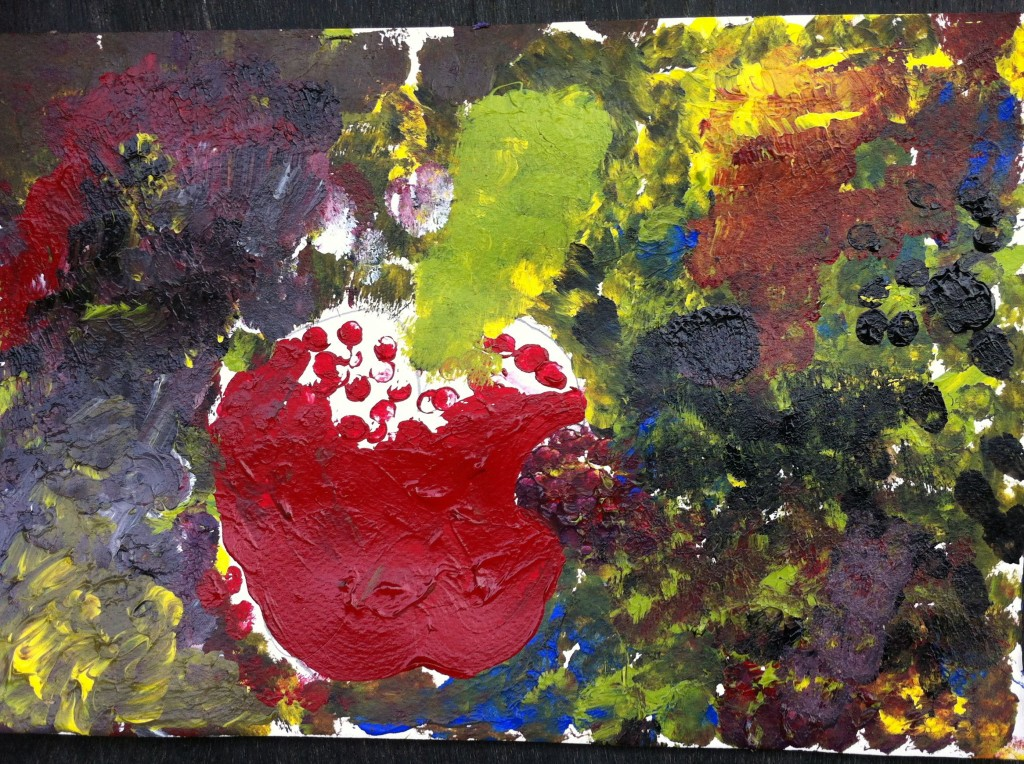 Red Apple - student painting, Panyaden School (international bilingual school in Chiang Mai)