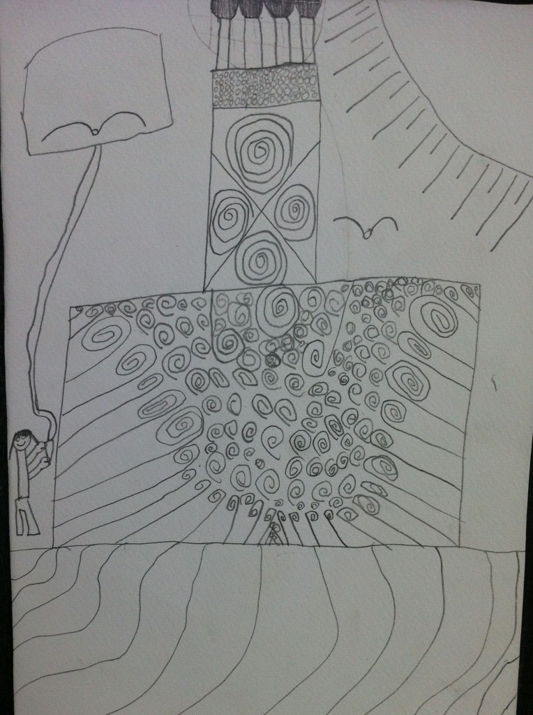 Pencil sketch by Panyaden School expat student