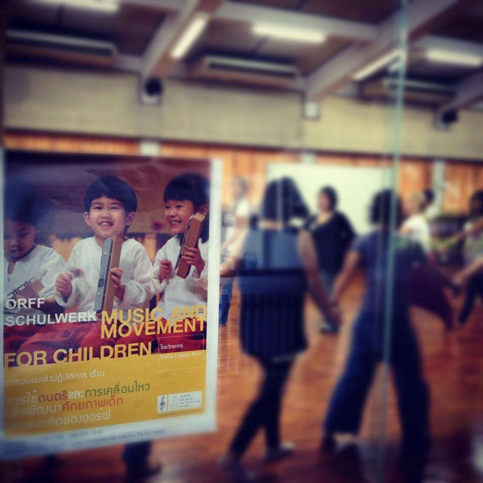 Orff-Schulwerk music workshop photo by Panyaden School teacher, Kru Noy