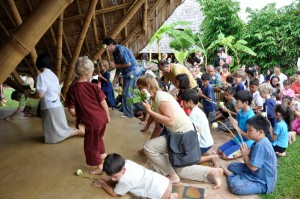 Buddhist ceremony at international school in Thailand, Panyaden
