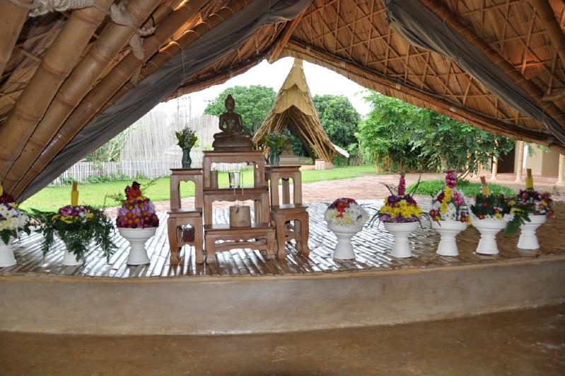 Flowers in paans for presentation to teachers of Panyaden School, international school in Chiang Mai