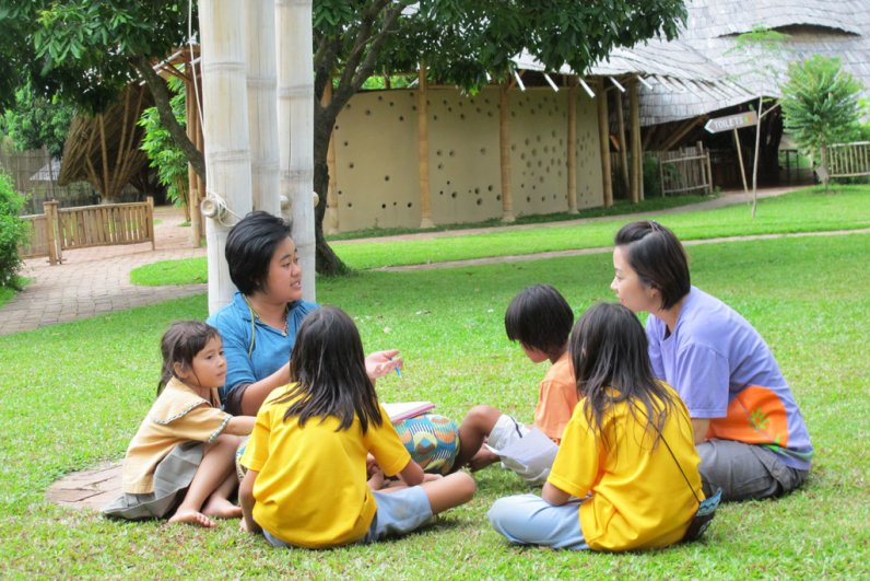 Self-directed learning project discussion at Panyaden School, bilingual school in Chiang Mai
