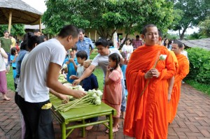 Getting ready for the candle ceremony, Panyaden School in Chiang Mai