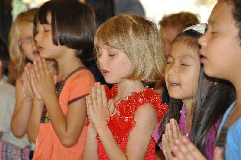 Panyaden students during school's wise habit session