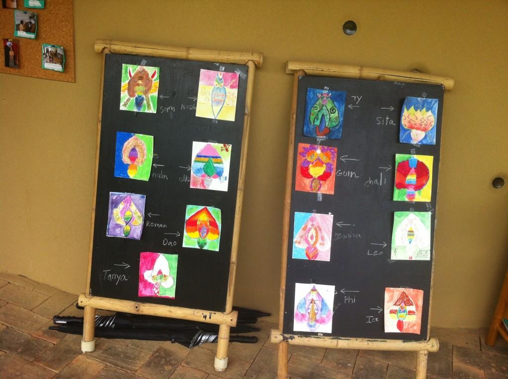 Flowers of Thailand, art by Panyaden students