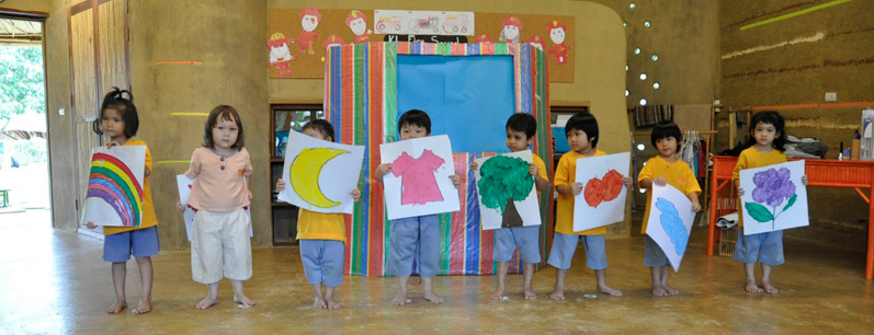 Students present work to their parents at Panyaden School Chiang Mai