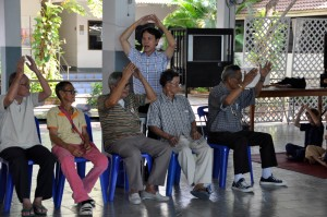 Community service by primary students of Panyaden School Chiang Mai