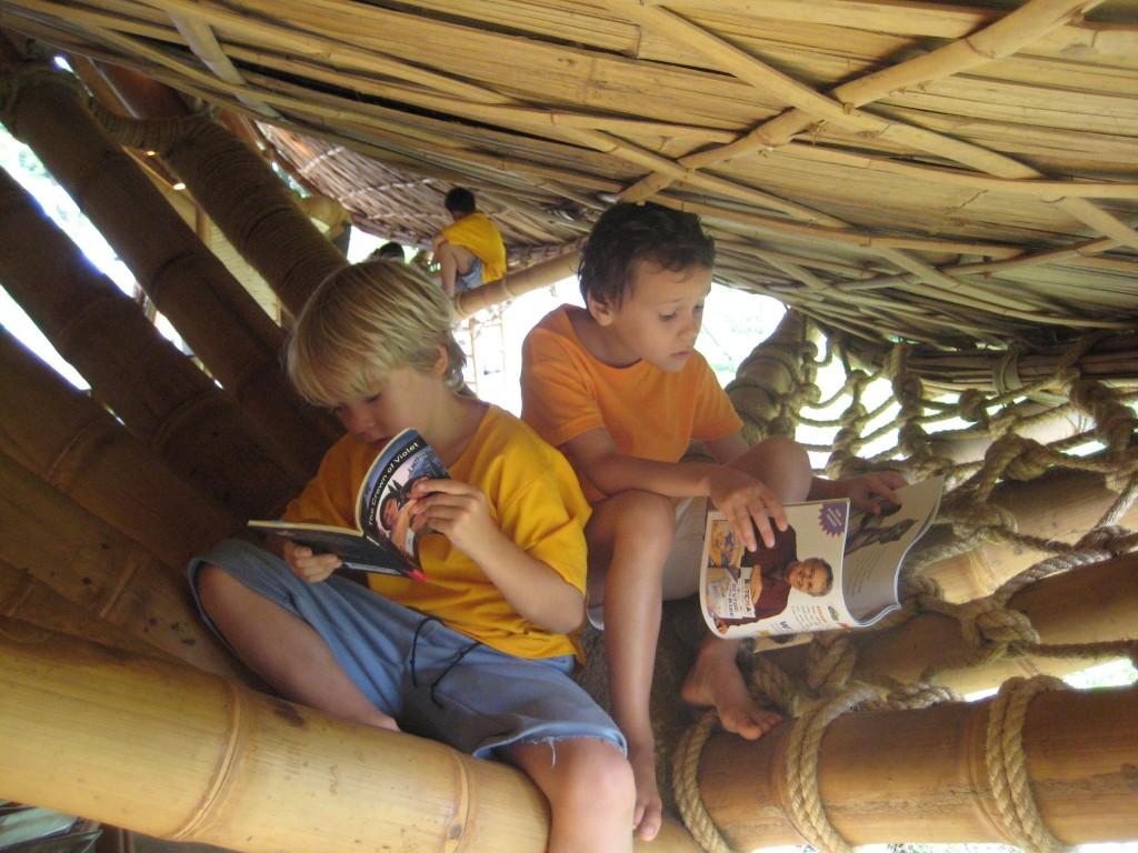 Panyaden School Chiang Mai students reading