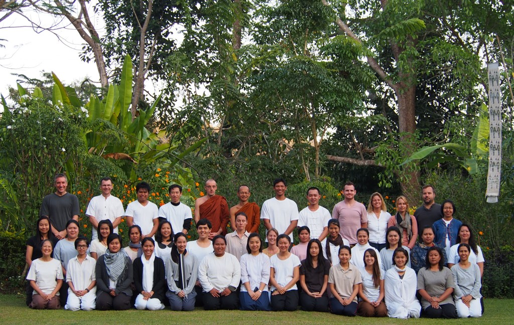 Panyaden School staff at meditation retreat in Chiang Mai